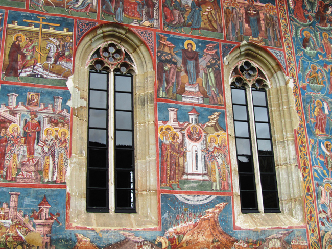 Frescos Moldevita Monastery.