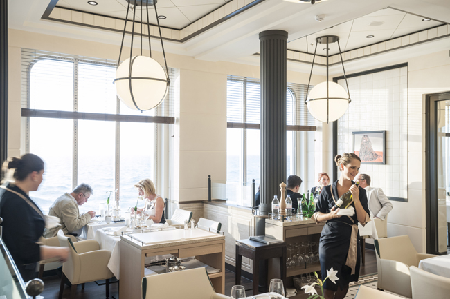Tarragon Restaurant aboard Hapag-Lloyd's Europa 2.