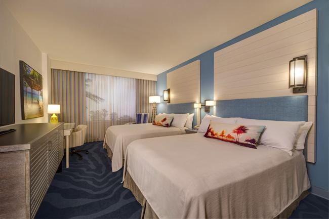 Model guestroom at the resort.