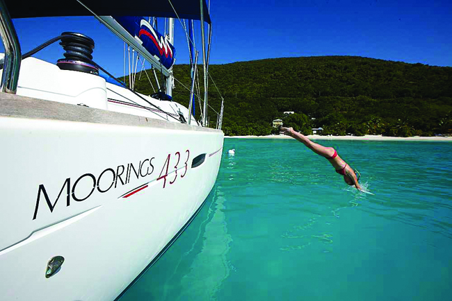 A Moorings yacht.