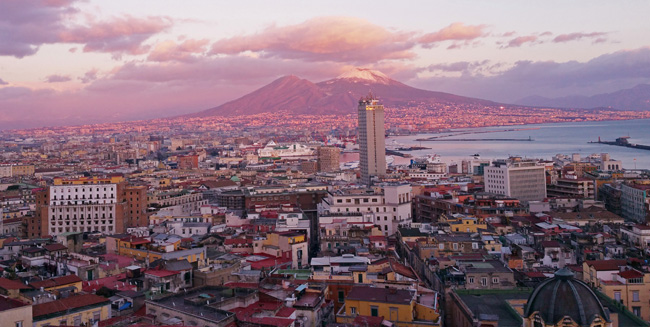 Sunset views of Naples. (Photo courtesy of Sophia's Travels.)