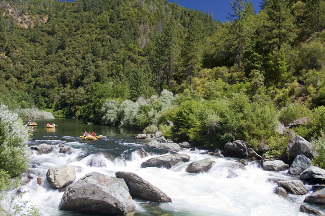 Whitewater rafting  in California  with O.A.R.S.