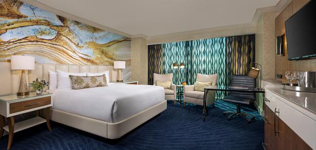 The renovated Resort King Suite at Mandalay Bay Resort and Casino.