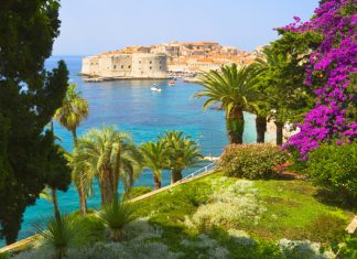 View from the Flower Garden of Dubrovnik in Croatia. (Photo courtesy of Central Holidays.)