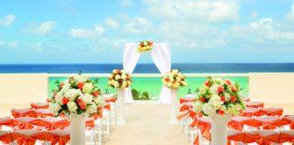 A wedding setup at the Wedding Sky Deck.