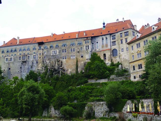 Castle in Cesky Krumlov.
