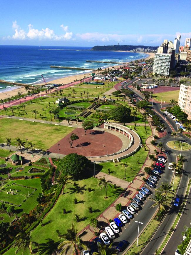 Durban's Golden Mile promenade. (Deserae del Campo)