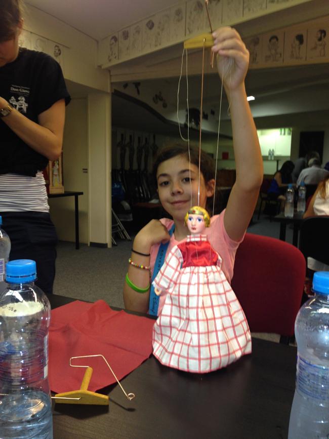 Marionette-making workshop in Prague.