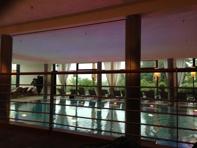 Indoor pool at Kempinski Berchtesgaden. (Photo credit: Paloma Villaverde de Rico)