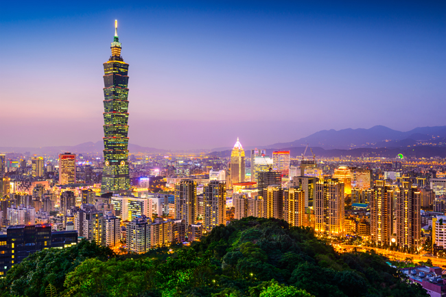 Night views of Taipei. (Photo courtesy of Goway Travel.)