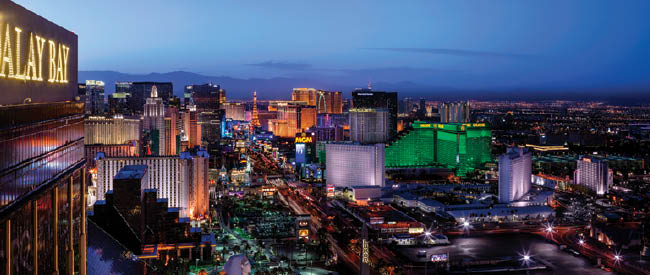 The Las Vegas skyline.