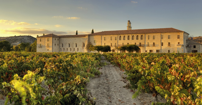 The Abadia Retuerta LeDomaine hotel and winery in Spain.