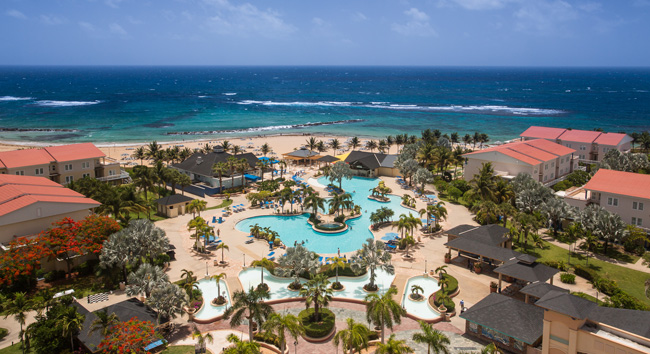 An aerial view of the St. Kitts Marriott.