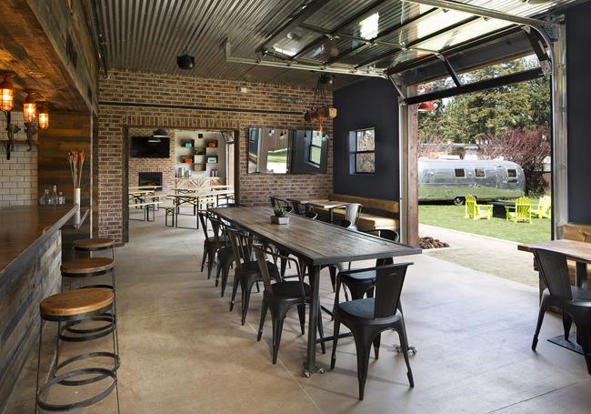 Basecamp Hotel's Beer Garden. (Photo credit: Eva Kolenko)