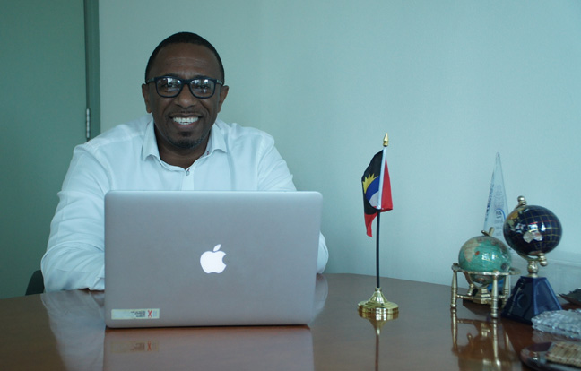 Colin C. James, the CEO of the Antigua and Barbuda Tourism Authority.