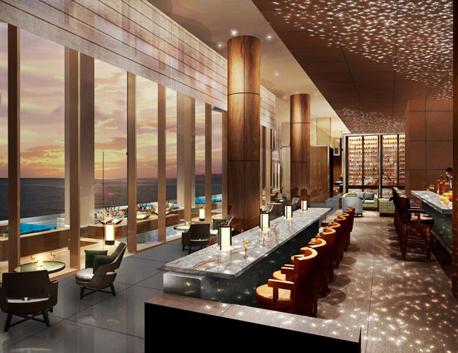 The Conrad Manila's champagne bar.