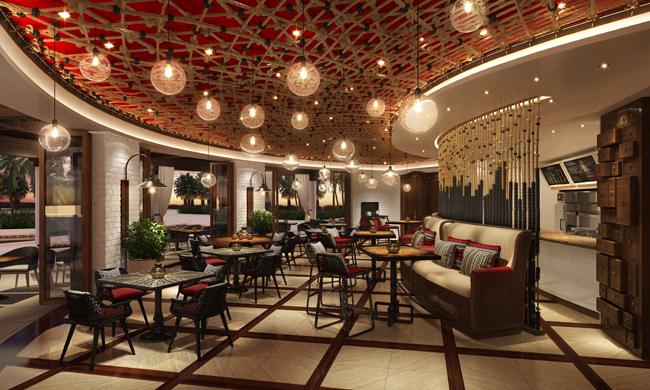 Fine-dining restaurant Vela in the La Vista Club at the Hilton Los Cabos Beach & Golf Resort.