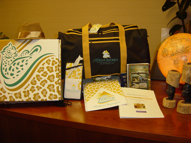 Safari essentials that guests receive prior to their tour.