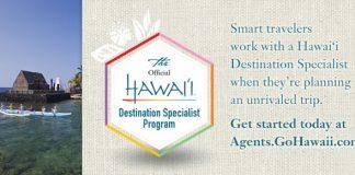 Hawaii Visitors and Convention Bureau's logo.