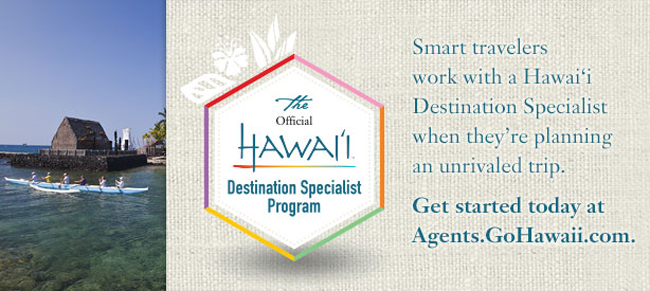 Agents can use the Official Hawai'i Destination Specialist Program to plan their client's Hawaiian vacation.