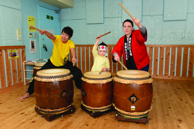 Trafalgar's Samurai Discovery tour includes drumming lessons for the kids.