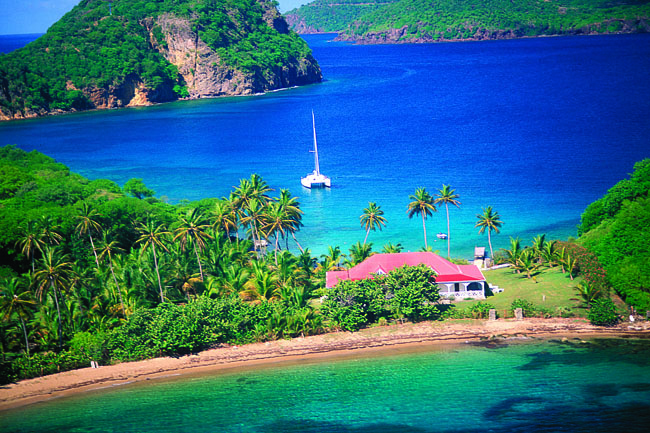 Les Saintes in Guadeloupe Islands.