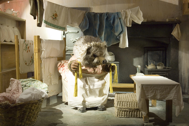 Mrs. Tiggy-winkle's laundry room at The World of Beatrix Potter Attraction in the Bowness-on-Windermere, Cumbria.