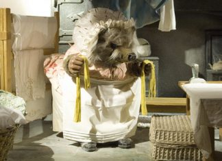 Mrs Tiggy-winkle's laundry room at The World of Beatrix Potter Attraction in the Bowness-on-Windermere, Cumbria.