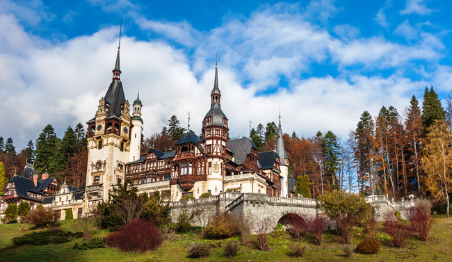 Peles Castle in Romania.