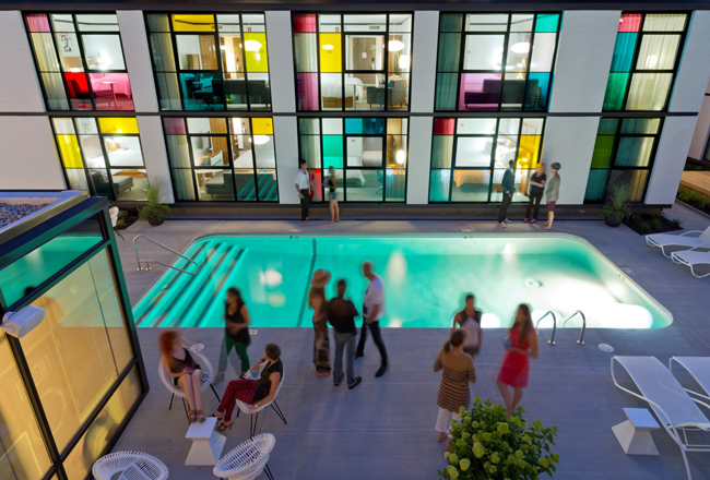 The Verb Hotel's pool.
