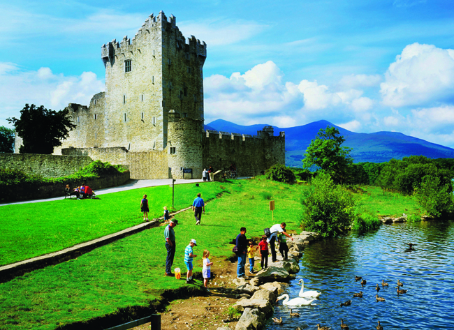 Ross Castle in Killarney, Ireland.