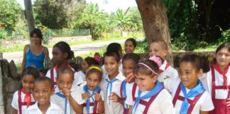 School children in Cuba.