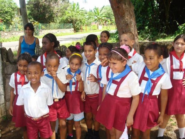 School children in Cuba.