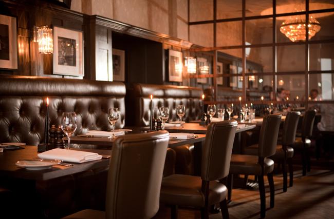 The Bistro du Vin restuarunt at the Hotel du Vin St Andrews in Scotland.