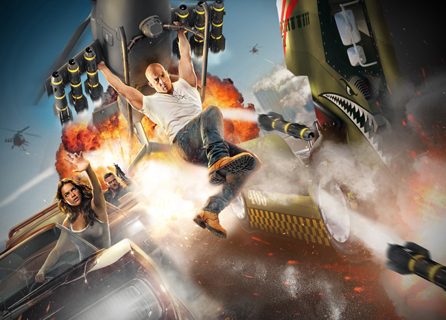 The Fast & Furious: Supercharged attraction will debut in 2017 at the Universal Studios in Orlando.