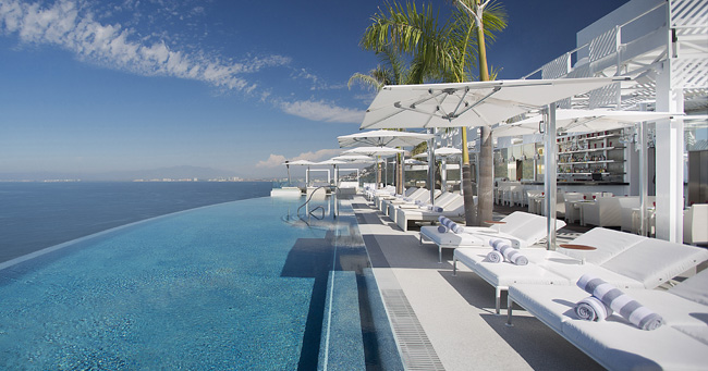 The Hotel Mousai's rooftop in Mexico.