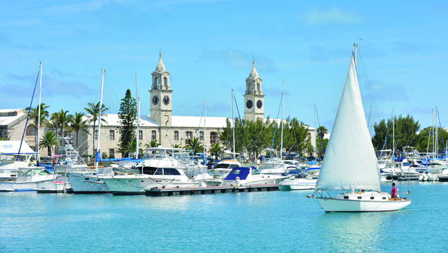 The Royal Naval Dockyard in Bermuda.