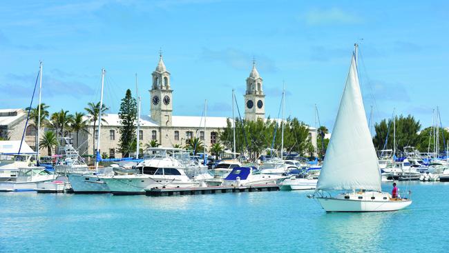 The Royal Naval Dockyard in Bermuda.