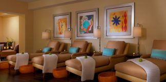 The womens lounge at the eforea spa in Orlando.