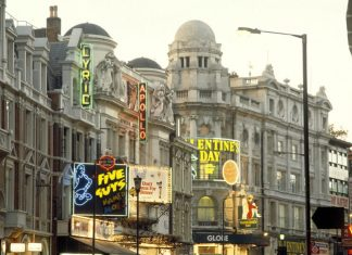 Theatres in Shaftesbury Avenue, West End, London.