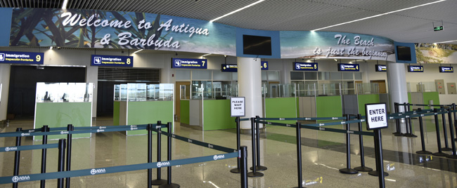 V.C. Bird International Airport's new Antigua and Barbuda terminal.