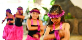 Keiki hula dancers at Turtle Bay Resort.