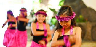 Keiki hula dancers at Turtle Bay Resort.