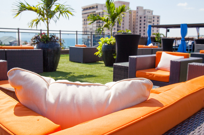 Guests can sipStranahan's Manhattans on Hotel Zamora's360-degree rooftop lounge.