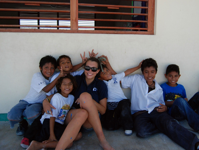 Guests on GVI's Volunteer with Children in Costa Rica project teach underprivileged children.
