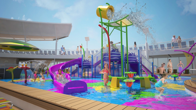 Harmony of the Seas' new Splashaway Bay aquatic adventure park will feature a gigantic drench bucket and a multi-platform jungle-gym.