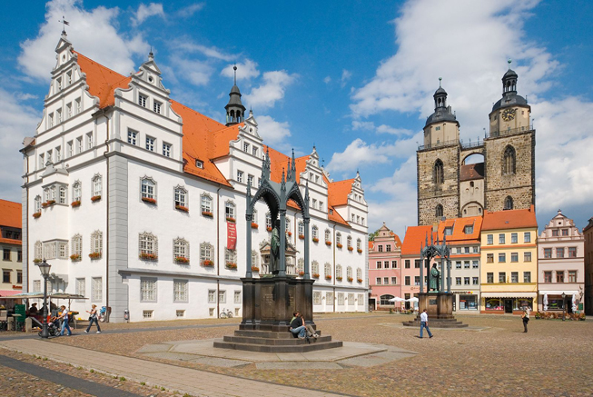 In Saxony-Anhalt, guests can vIn Saxony-Anhalt, guests can visit the birthplace of Martin Luther in the city of Wittenberg. (Photo Credit: German National Tourist Office)isit the birthplace of Martin Luther in the city of Wittenberg.