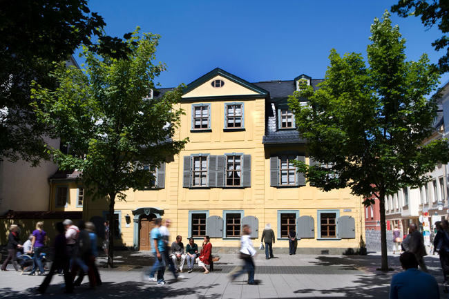 The popular city of Weimar was home to the 1919 Bauhaus architectural movement and the residences of several great artists,