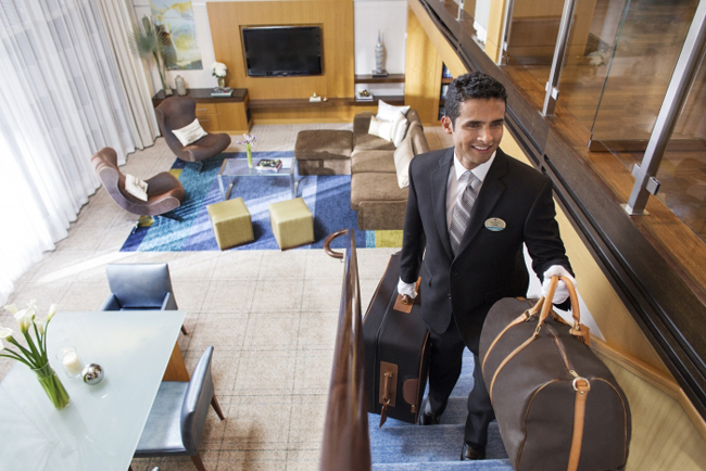 Royal Caribbean's Star Class level guests are given Royal Genie personal butler to assit with their every need.