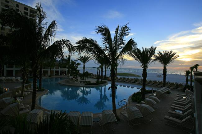 Poolside at theSandpearl Resort.
